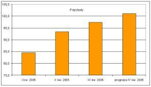 Przychody GTS Energis w 2005 roku (w mln zł)