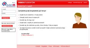 Strona logowania Studentix.pl