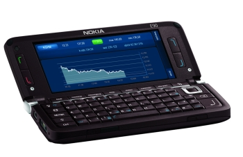 Aplikacja mInwestor na ekranie Nokia E90 Communicator