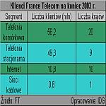 Klienci France Telecom na koniec 2003 r.