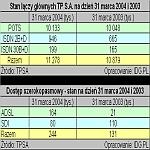 Wybrane dane operacyjne TPSA