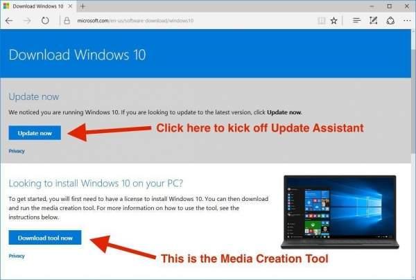 Jak przyspieszyć instalację Creators Update. Źródło: Microsoft.